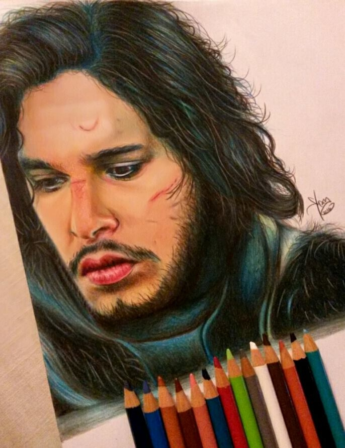 Kit Harington by yamilaalmara